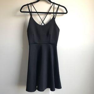 Dresses & Skirts - Black strappy skater dress